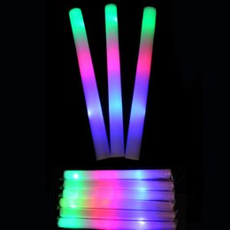 flash sticks light sticks club lights wholesale custom led colorful light sticks foam sponge light bar fast shipping
