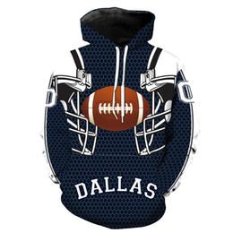 3d helmet free online shopping - Dallas New Style D Helmet Print Hoodies Man Loose Active Hoodies Teenager Boys Clothing