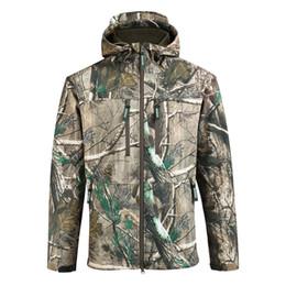 2e2568538dddb Camouflage Fishing Jacket UK - SAENSHING Waterproof Hunting Jacket Men  Softshell Camouflage Tactical Jackets Male Fleece