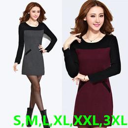 b26ba6449 new design 2f9cc 6b787 ladies burgundy long knit dress long sleeve ...