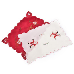 Chinese  Wholesale- 43x28cm Santa Clause Bell Plate Mat Set Christmas Table Mats Decoration Kitchen for Xmas Home Restaurant Decor 4 Styles manufacturers