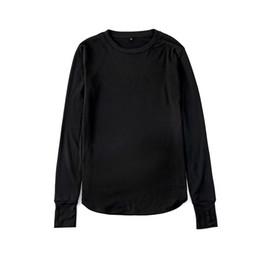 Long sLeeve t shirt wooL online shopping - Hip Hop O Neck New Thumb Hole Cuffs Long Sleeve Tyga Swag Style Mens Side Split Hip Hop Top Tee T Shirt Crew Wool T Shirt