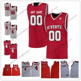 custom basketball jerseys Australia - Custom NC State Wolfpack College Basketball gray red white Stitched Any Name Number 13 CJ Bryce 24 Devon Daniels 33 Wyatt Walker Jerseys