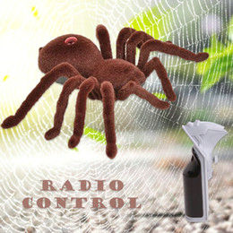 Funny Prank Gifts NZ - April fool Halloween Holiday Simulation Remote Control Spider Realistic RC Araneid Shine Eyes Tricky Scary Toy Funny Prank Gift