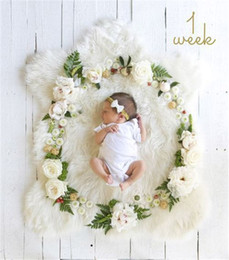 BaBy girl nursery decor online shopping - Baby Party Headmade Flower accessories DIY Letter Newborn Baby Girl Boy Birthday Decoration Photo props baby Blanket BHB35
