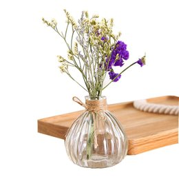 Chinese  Glass Vase Tower For Home Decoration Photo Prop Vintage Glass Bottle Green Plant Glass Flower Vases manufacturers