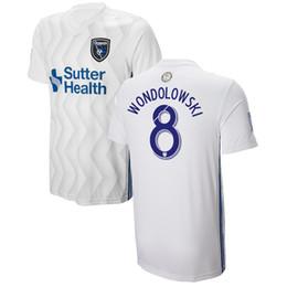 363541f7fa18c Mls camisas de futebol on-line-A versão do jogador Earthquakes afastado  branco Camisa