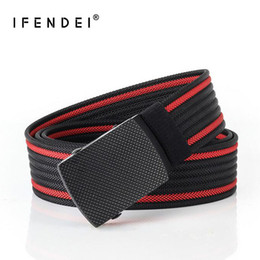 afd09f52f7 IFENDEI Canvas Waist Belt For Men 2018 New Male Tactical Alloy Metal Buckle  Belts Nylon Casual Strap Men s Blue cinto feminino