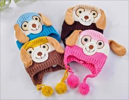 Cartoon skull Caps ears online shopping - Lovely Long Ears Hat Dog Shape Keep Warm Cartoon Cap Wool Yarn Knitting With Multi Color Thicken Hats nx jj