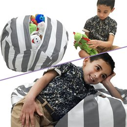 $enCountryForm.capitalKeyWord Canada - Kids Storage Bean Bags plus toys canvas beanbag Chair Bedroom children Stuffed Animal Room Mats stripe Portable buggy Bag pouch gifts