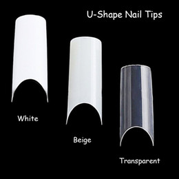 False nails products online shopping - 100pcs Nail Art U shape Half Cover French Manicure False Nail Tips Fake Nails Artificial Nails Beauty Products
