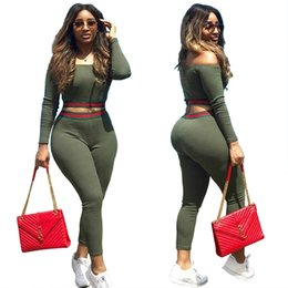 Clothing single pieCes online shopping - Women Trousers Suit Two Pieces Sportswear Sexy Suit dress Split Joint One Word Lead Motion Clothes