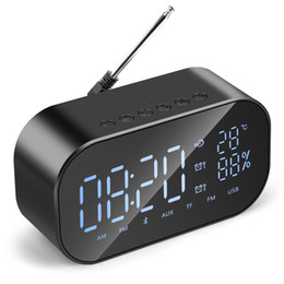 computer clock NZ - 2018-S2 Wireless Bluetooth Speaker Wireless Mini Mobile Alarm Clock Small Audio Computer Car Subwoofer Stereo Sound