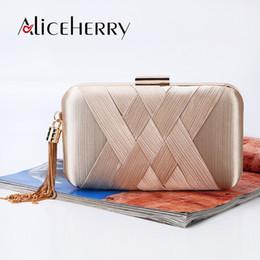 $enCountryForm.capitalKeyWord NZ - Luxury Silk Clutch Box Bags Women Crossbody Handbag Tassel Evening Party Purse Bags Women's Designer Wedding Bag Bolsa Feminina