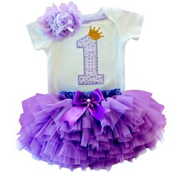 16a1b9726 Newborn Baby Girl First Birthday Clothes Romper + Headband + Tutu Skirt Suits  Kids Clothing Sets Outfits Infant Princess Costume
