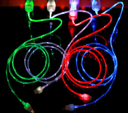 $enCountryForm.capitalKeyWord UK - Flowing LED Visible Flashing USB Charger Cable 1M 3FT Data Sync Type C Light Up Cord Lead for Samsung S7 S6 edge HTC Blackberry Universal LF