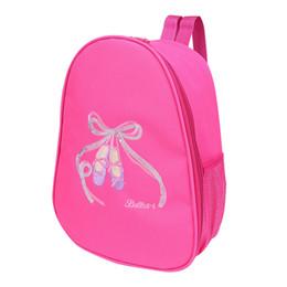 1dc6cbf785c1 Мода дети девушки балет танцевальная сумка рюкзак Toe обувь вышитые сумка  девушки балет рюкзак для детей танцы и спорт