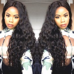 glueless lace wigs for black women Canada - Brazilian Wet and Wavy Full Lace Human Hair Wigs For Black Women Glueless Natural Water Wave Lace Front Wigs With Baby Hair