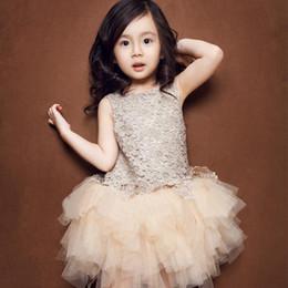 Vieeoease девушки платье цветок Детская одежда 2018 осень мода рукавов жилет вышивка Принцесса платье партии KU-002