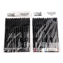 $enCountryForm.capitalKeyWord NZ - 240PCS=20Set M.n Menow Eyeliner Pencil Waterproof Eyebrow Beauty Pen Eye Lip Liner Pencil 12colors DHL fast ship P08005