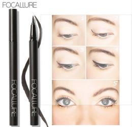 Gel Eyes Liner Australia - FOCALLURE Professional black color Liquid Eyeliner Pen Eye Liner Pencil 24 Hours Long Lasting Water-Proof by Focallure