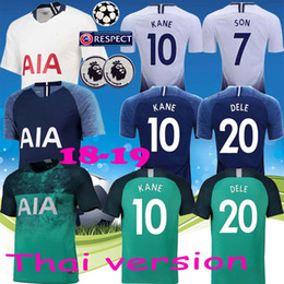 Top thailand quality KANE spurs Soccer Jersey 2018 2019 LAMELA ERIKSEN DELE  SON jersey 18 19 Football kit shirt Men and KIDS KIT SET unifor 544079ff6