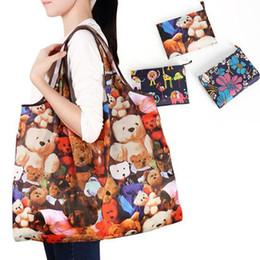 Nylon Eco Bags NZ - New Waterproof Nylon Foldable Shopping Bags Reusable Storage Bag Eco Friendly Shopping Bags Tote Bags Large Capacity