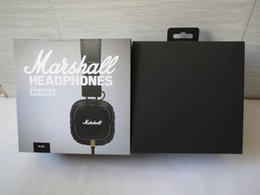 Wholesale Marshall Major MK II Black Headphones New Generation Headset Remote Mic nd pk MARSHALL MONITOR Good quality