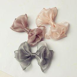 $enCountryForm.capitalKeyWord Australia - Hand-made Baby girl Hair Bows Gorgain Ribbon Baby Girls Knot Hairbow Headwear accessories Baby girls Headwraps Headband