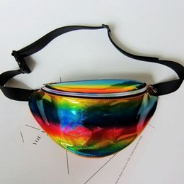wholesale pillow packs Australia - New Holographic Fanny Pack Laser Waist Packs Heuptas Hip Bag Women's Waistband Banana Bags Waist bag Unisex bolso cintura -l
