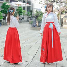 dd44be75d Hanfu dresses online shopping - Chinese Traditional Han Dynasty Princess Clothing  Women Tops Skirt Ancient Hanfu