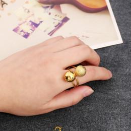 Punk Rings Australia - Fashion Women Punk Round Balls Double Circle Ring Couple Rings Finger Ring Adjustd Size