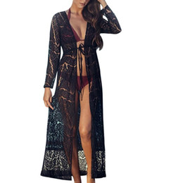 684254e381484 Women Fashion Blouse Summer Ladies Boho Beach Bikini Maxi Cover Up Lace  Kimono Print Chiffon Kimono Cardigan See Throug#GHC