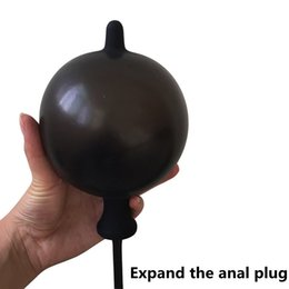 Men Sex Toy Gay NZ - Inflatable Butt Plug Expandable Anal Dilator Inflate Anal Plug Anal Dildo Air-filled Pump Sex Toys for Men Woman Gay no vibrator Y1892105