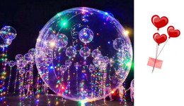 $enCountryForm.capitalKeyWord NZ - Smooth-edged LED Balloon Luminous Latex Balloons Wedding Room Birthday Party Decoration Toys For Kids With 70cm Stick 2018