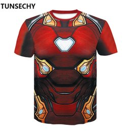 Chinese  3 infinity war iron man clothing fitness compression speed dry marvel short sleeved T-shirt man manufacturers