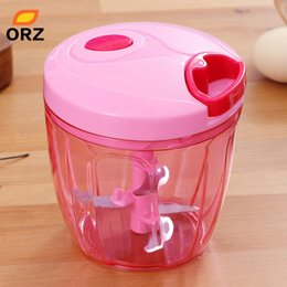 onion cutter chopper NZ - Vegetables Food Processor Handhelp Meat Grinder Fruits Vegetables Chopper Nuts Herbs Onions Cutter Salad Mincer Cooking Tools