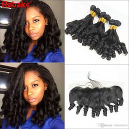 Aunty funmi virgin humAn hAir online shopping - Brazilian Virgin Human Hair Bundles with Frontal Closure Aunty Funmi Boucy Curl Brazilian Funmi Curly Unprocessed Human Hair Bundles