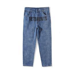 Men s juMpsuits online shopping - 18ss Ripped Jeans Best Version Women Men Jeans trouser jumpsuit urban hip hop punk motorcycle blue distressed