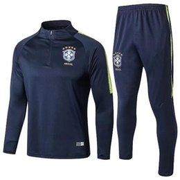 Neymar brazil soccer online shopping - thai quality world cup brazil Soccer training suit D COSTA DAVID LUIZ T SILVA OSCAR NEYMAR JR soccer jerseys tracksuit shirts