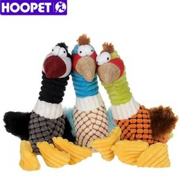 bird products 2019 - HOOPET Pet Dog Squeak Sound Toy Bird Design Puppy Teeth Chew Toys Dog Products High Quality Resistance To Bite Playable