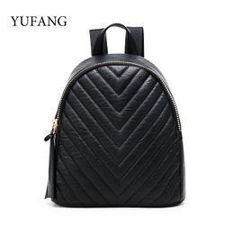 $enCountryForm.capitalKeyWord Australia - YUFANG Black Women Mini Backpack For Teenage Girls Fashion Small Backpacks Casual Female PU Leather School Daypack Bag