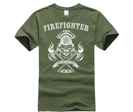 608b5845f designer t shirt Men Casual Cotton T Shirt fireman Fire Fighter Tee Gift  For Firefighter Dad Tee cheap Tee Shirt
