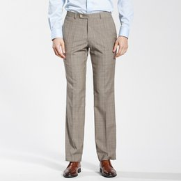 c75ccc6271d Men s Beige Luxury Commercial Western-Style Trousers Suit Pants Gray  High-Quality Goods For Wedding Or Custom Made Male Pants
