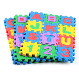 Carpeting Tools NZ - 36pcs Early Childhood Education Tool Foam Carpet Cartoon Letter Digital Puzzle Baby Crawling Mat Creative Language Learning Tool