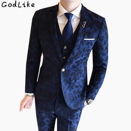 $enCountryForm.capitalKeyWord Australia - (Blazer+Pants+Vest) 2018 Fashion Men's Suit Shine Patterns Luxury Casual Men Stage Clothing Vintage Male Suits Wedding Groom 3XL