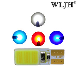 168 led blue bright For Sale - WLJH Super Bright W5W T10 COB LED Panel Dome Light W5W LED Replacement Parking Reverse Backup License Plate Instrument Panel