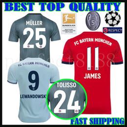 bb3de926 18 19 Bayern Munich Soccer jersey third black james 2018 2019 HUMMELS  LEWANDOWSKI MULLER TOLISSO RIBERY THIAGO home away 3RD football shirts