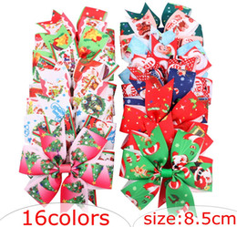 Colorful hair girls online shopping - Over colors INS Big Girls xmas christmas headbands colorful Hair accessories fashion lovely hairbands headbands free ship ribbon hairband
