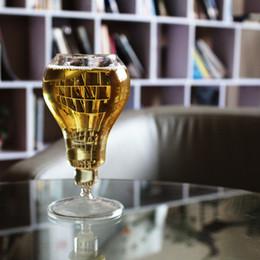 Vintage saddles online shopping - Creative Retro Bulb Shape Wine Glass Fashion High Foot Simple Design Beer Cups Vintage Unique Transparent Modern Steins tr Z